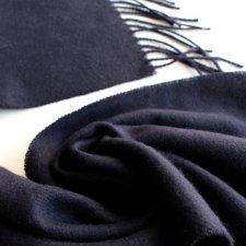 EXCLUSIVE WOOL SCARF pashmina navy blue