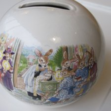 royal Doulton 1988 Bunnykins celebrate your christening porcelanowa skarbonka