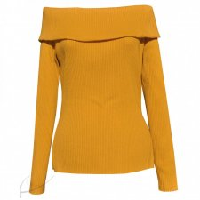 Sweter miodowy off shoulder