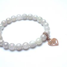 Moonstone heart /rose gold/- bransoletka