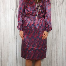 Gina Bacconi vintage dress lata 80