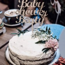Topper na tort baby shower +imię