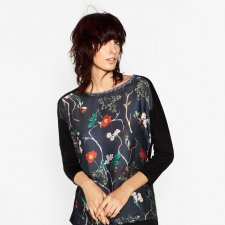 ZARA XL FLOWER PRINT TOP