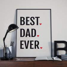 Plakat Best Dad Ever