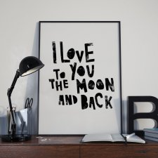 Plakat Love to the moon and back