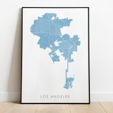 Mapa plakat - Los Angeles