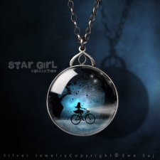 Star Girl Collection - Dwustronny Srebrny Medalion