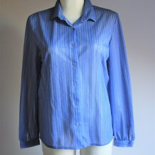 Blue secretary vintage blouse