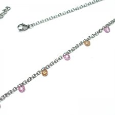 Alloys Collection Choker Line -cyrkonie pink nude