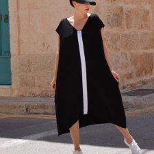 TUNIKA BASIC MAXI B&W BY MOMO