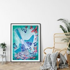 BLUEBERRY BIRD Plakat 50x70