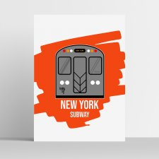 Plakat Subway Underground Metro New York USA -  A3