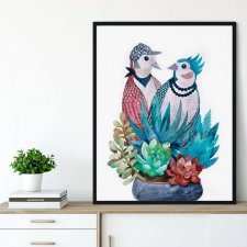 Birds in Love Plakat 30x40