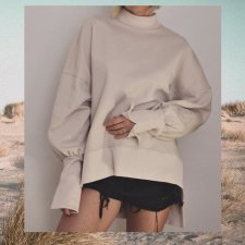BLUZA TURTLENECK SAND M/L by DON'T NEED NO SAMURAI