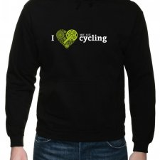 Bluza z kapturem. I love cycling