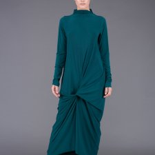 emerald front knot dressi
