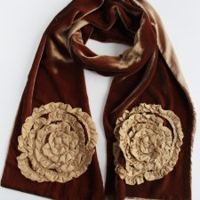 Exclusive 100% silk velvet scarf