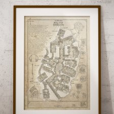BAG END, plan Nory Hobbita - plakat 30x40cm