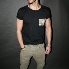 T-SHIRT ONE POCKET TEE UNISEX moro camo miltary