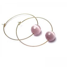 Alloys Collection /one stone/ kocie oko pink