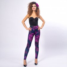 Legginsy z drukiem - Magic Rose