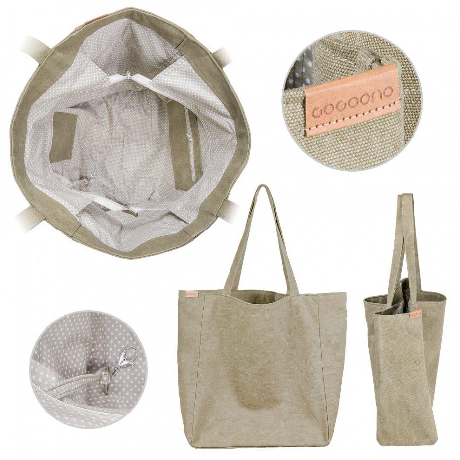 b2f7421e39cc7 Big Lazy bag torba khaki   zieleń na zamek - Torebki - DecoBazaar