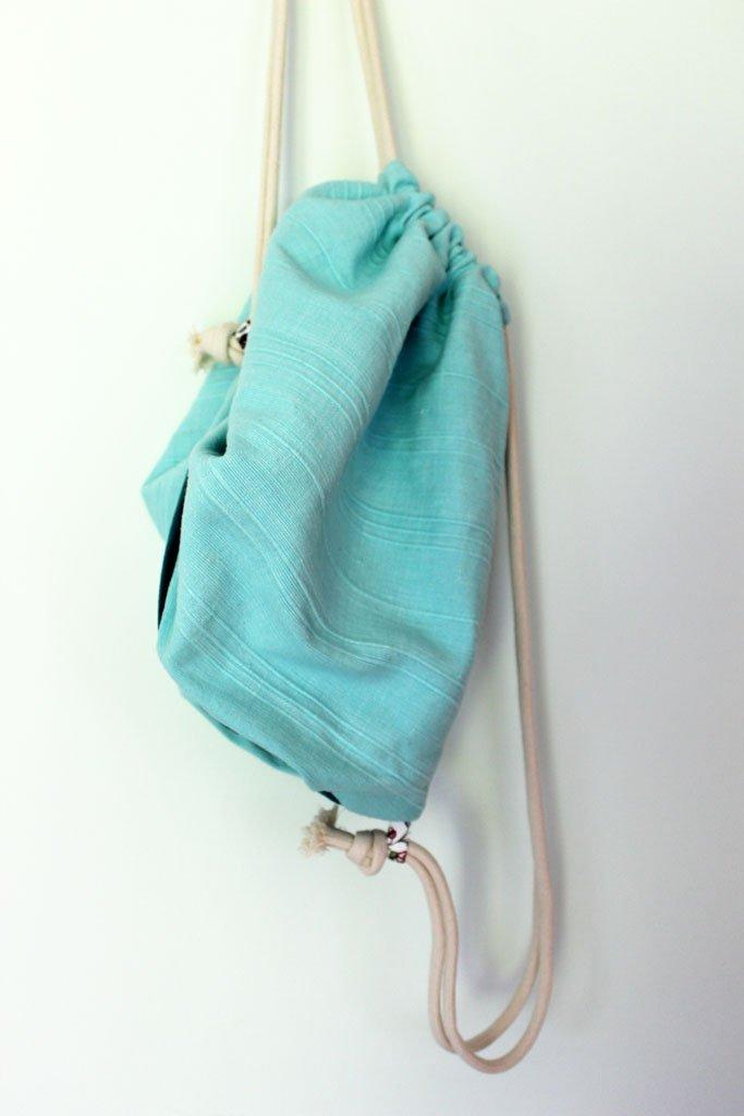 b11c33c3131ac Plecak Mięta, worek, plecak 100% bawełna. - Torebki - DecoBazaar