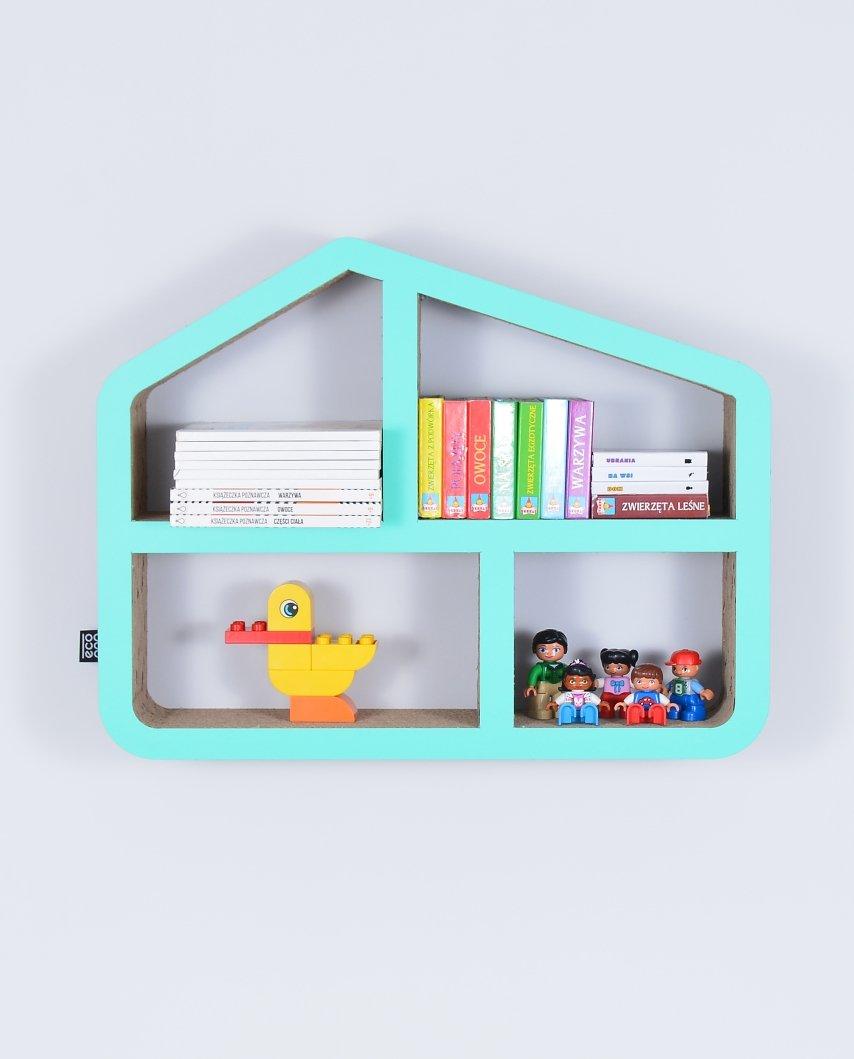 Półka Na Książki Zabawki Domek Ecoono Mięta