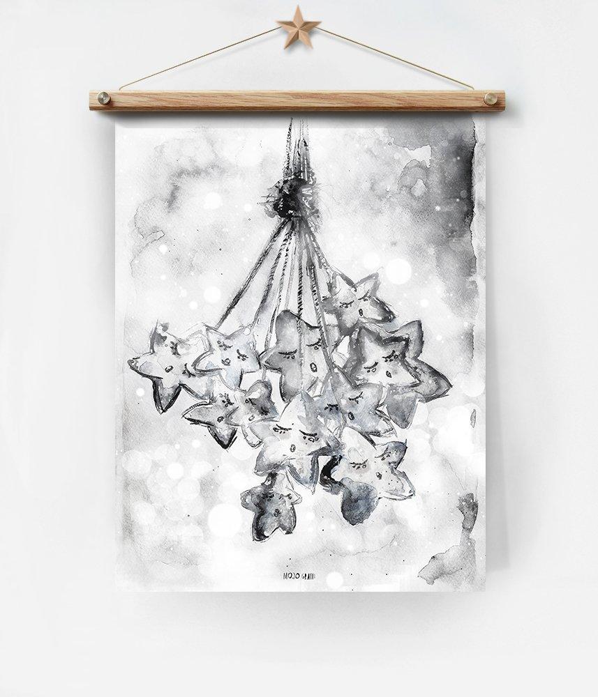 Gwiazdy Plakat Z Gwiazdami Gwiazdy Dla Dziecka Plakat Do Pokoju Niemowlaka Dla Noworodka Dekoracje Dla Dzieci Sztuka Dla Dziecka Dziecięcy Szar
