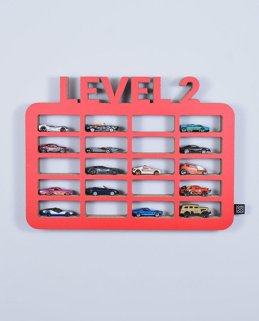 Półka Na Resoraki Organizer Na Samochodziki Garaż Level2 Czerwony