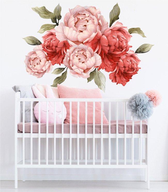 Piwonie Kwiaty Naklejki Na Sciane Wzor 3 100x71cm Dziecko