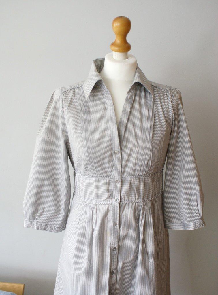 9176f07ad5 Vintage H Paski amp m Ubrania W Koszula Decobazaar Sukienka IprYSpxqw