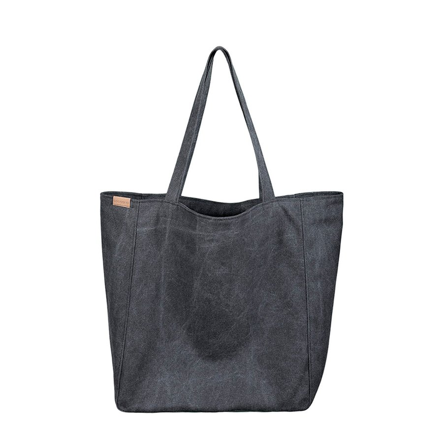 82f3d3b0 Lazy bag torba czarna na zamek / vegan / eco