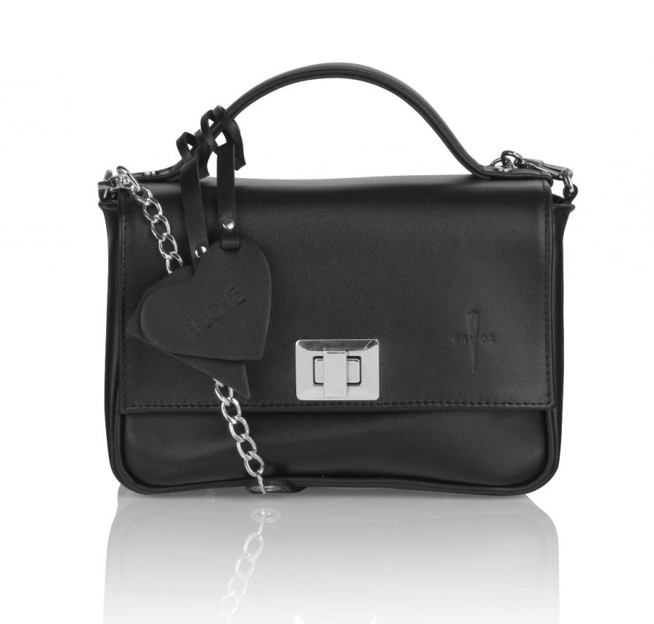 10836d1535d4e Skórzana czarna torebka kuferek elegancka - Torebki - DecoBazaar