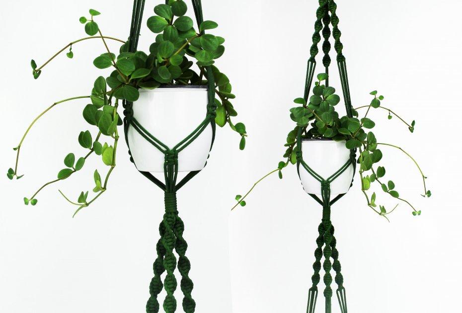 Kwietnik Makrama Double Green