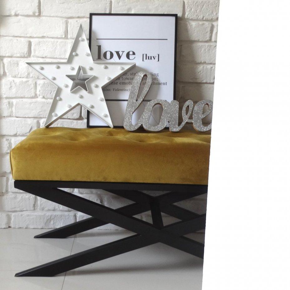 ławeczka ławka Loft Style X Nowoczesny Styl Nowoczesna Pufa Siedzisko Do Przedpokoju Pikowana Glamour Indriustial